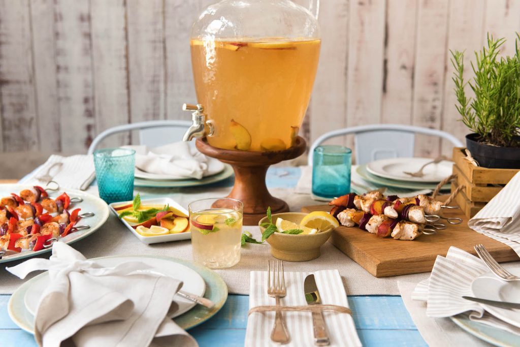 mint-peach-ginger-iced-tea-HelloFresh-Pottery-Barn