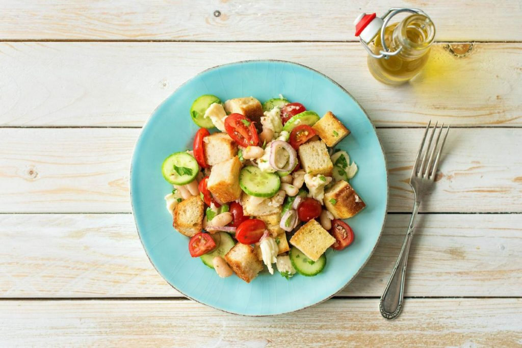 healthy bean recipes-HelloFresh-Italian-panzanella