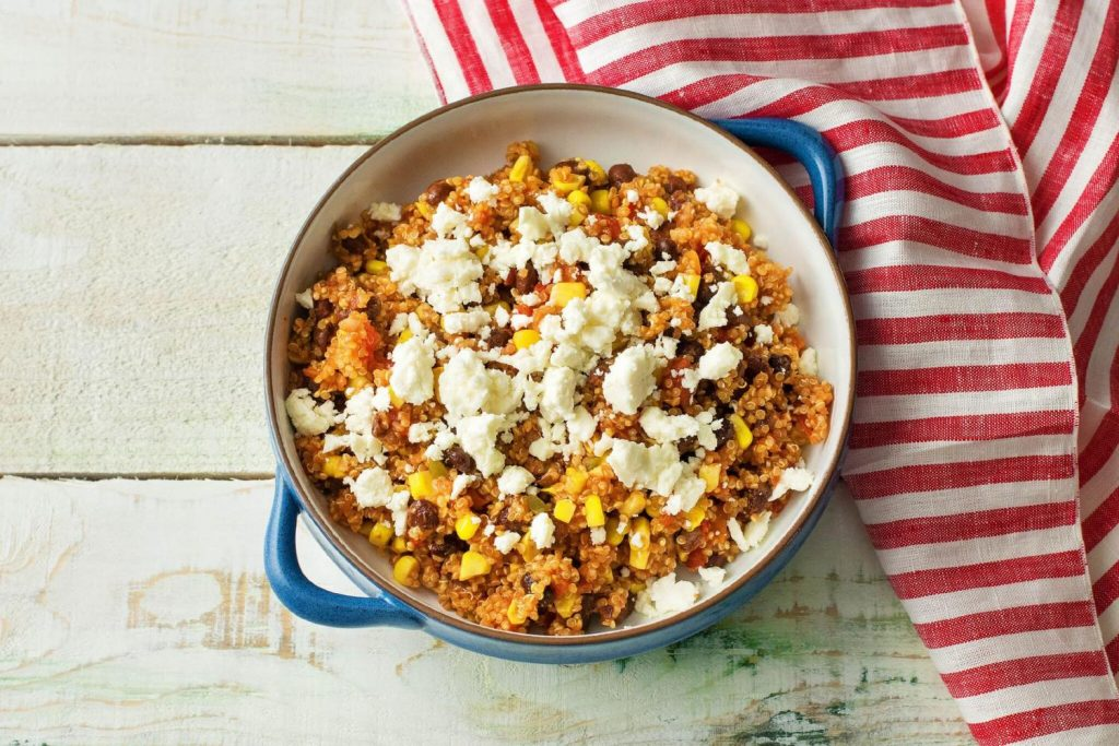 healthy bean recipes-HelloFresh-Mexican-quinoa