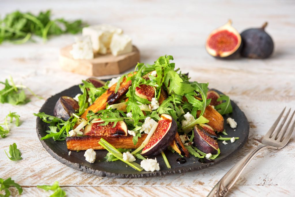 fig recipes-arugula-sweet-potatoes-feta-HelloFresh