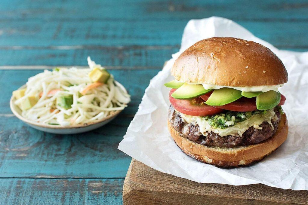 how to cut an avocado-chimichurri-burgers-HelloFresh