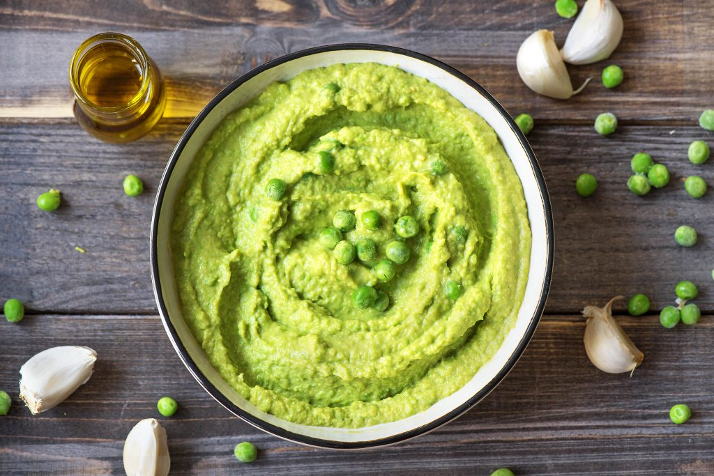 what to eat with hummus-peas-HelloFresh