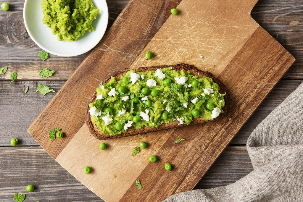 toast toppings-green-pea-puree-HelloFresh
