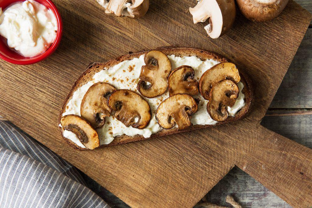 toast toppings-sour-cream-mushrooms-cumin-HelloFresh