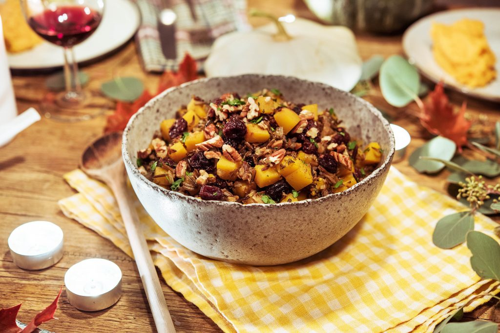 easy potluck recipes-squash-wild-rice-HelloFresh