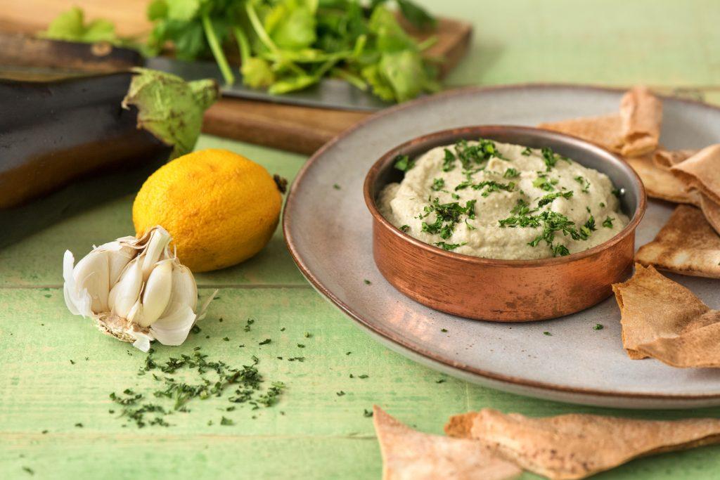 5-Ways to Cook Eggplant-HelloFresh-eggplant-garlic-dip-baba-ganoush