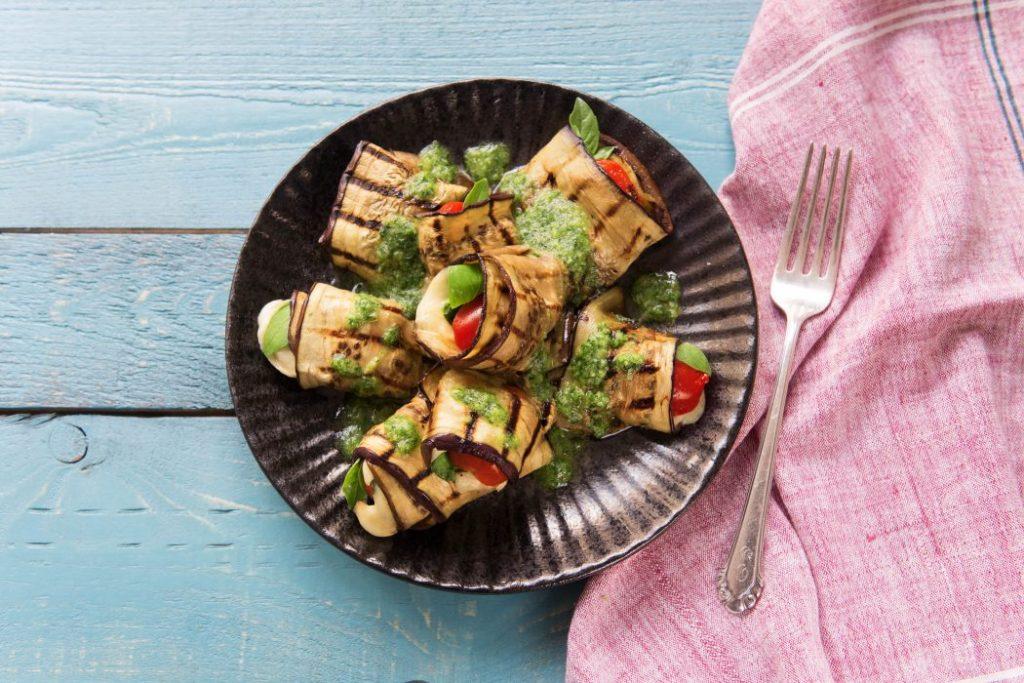 5-Ways to Cook Eggplant-HelloFresh-eggplant-mozzarella-rolls