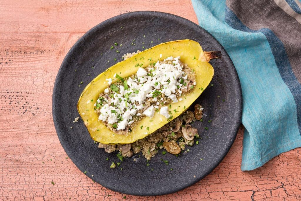 Best Thanksgiving Sides-HelloFresh-stuffed-squash-boats