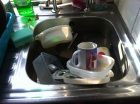 half the washing up to be done...