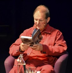 at one of his readings (how it should be)