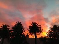 Summer-like sunsets