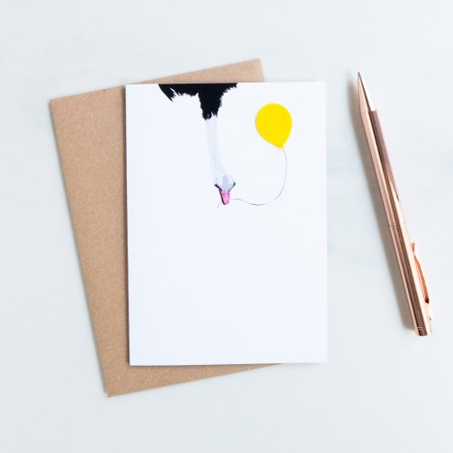 noths-party-ostrich-animal-card-yellow