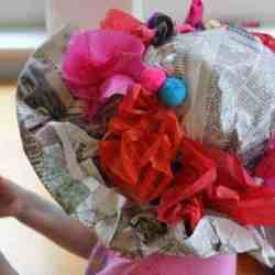 DIY Newspaper Derby Hat for Kids