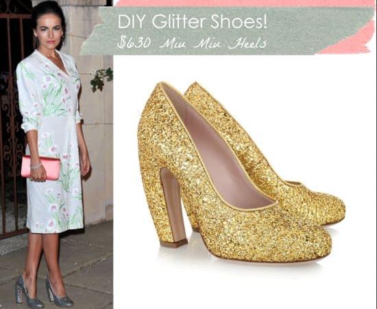 DIY Glitter Shoes   HelloGlow.co