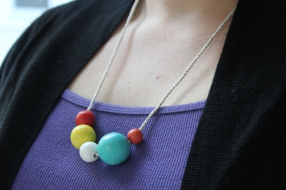 cute wooden bead necklace