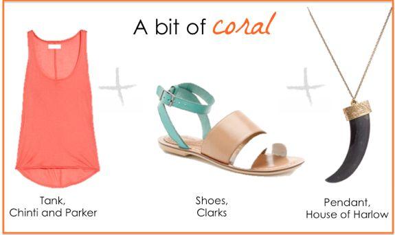 spring pastels: coral