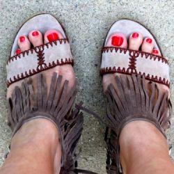 DIY Fringe Shoes + Clutch
