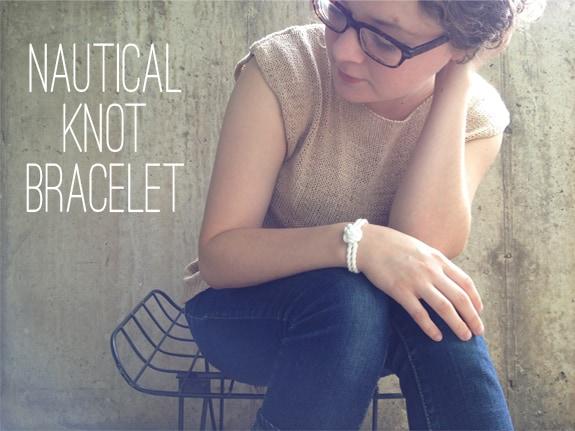 DIY nautical knot bracelet