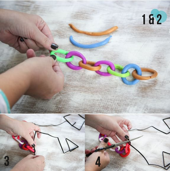 how to make clay chain necklace