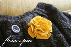 flower pin diy
