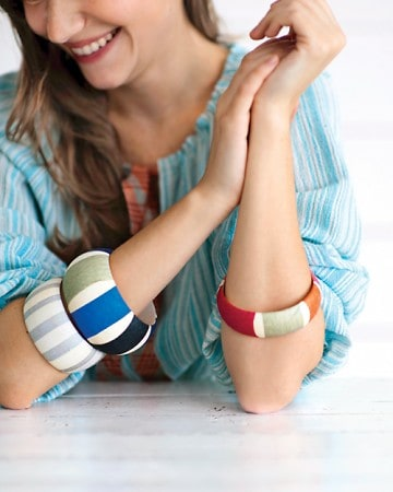 martha stewart striped bracelet