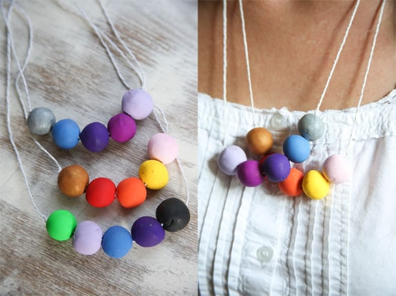 clay gumball necklace