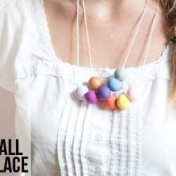 DIY Clay Gumball Necklace