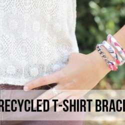 DIY Recycled Shirt Bracelet