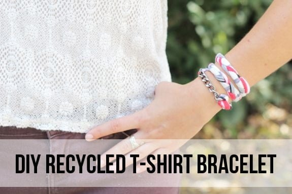 Recycled Shirt Bracelet