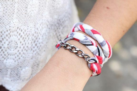 diy t-shirt bracelet