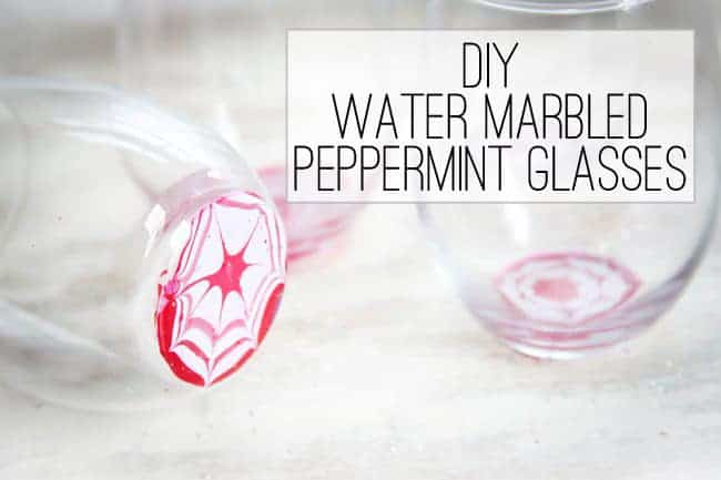 DIY marbled glasses