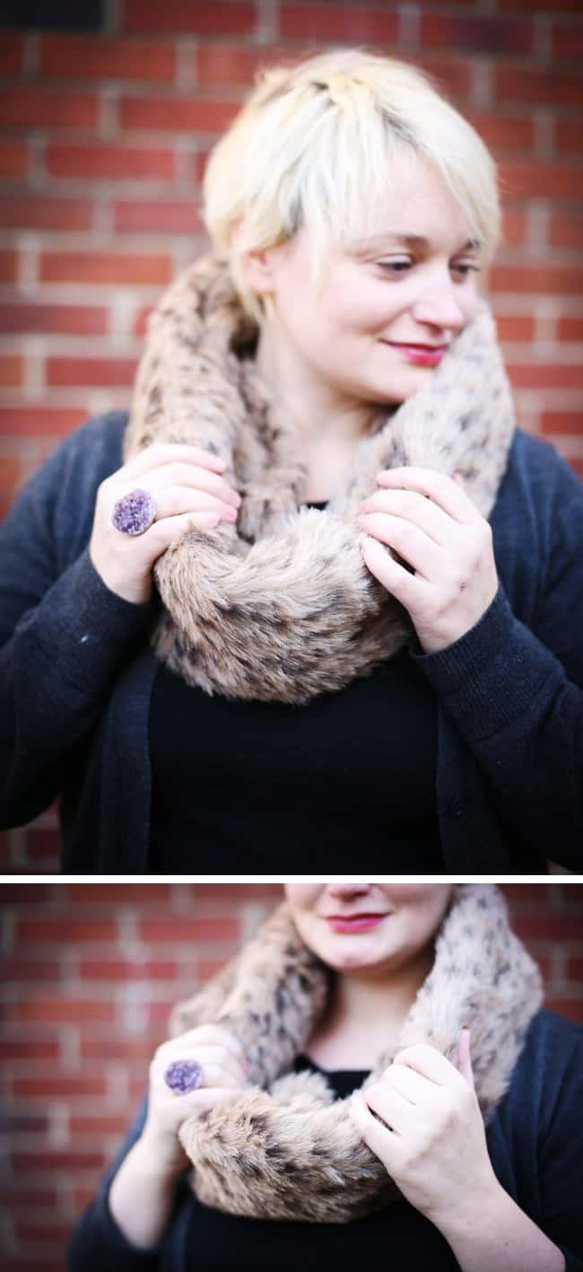 DIY fur cowl | HelloGlow.co