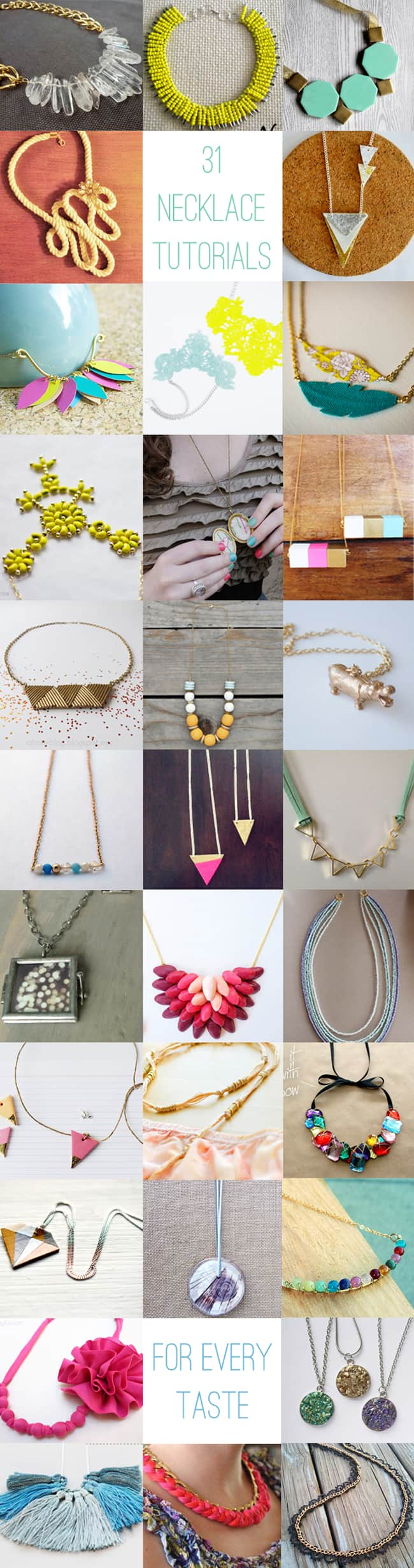 31 DIY Necklace Tutorials | HelloGlow.co