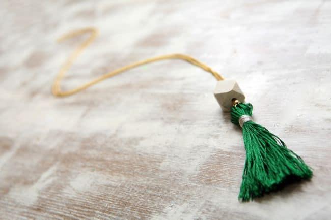 Emerald Tassel Necklace