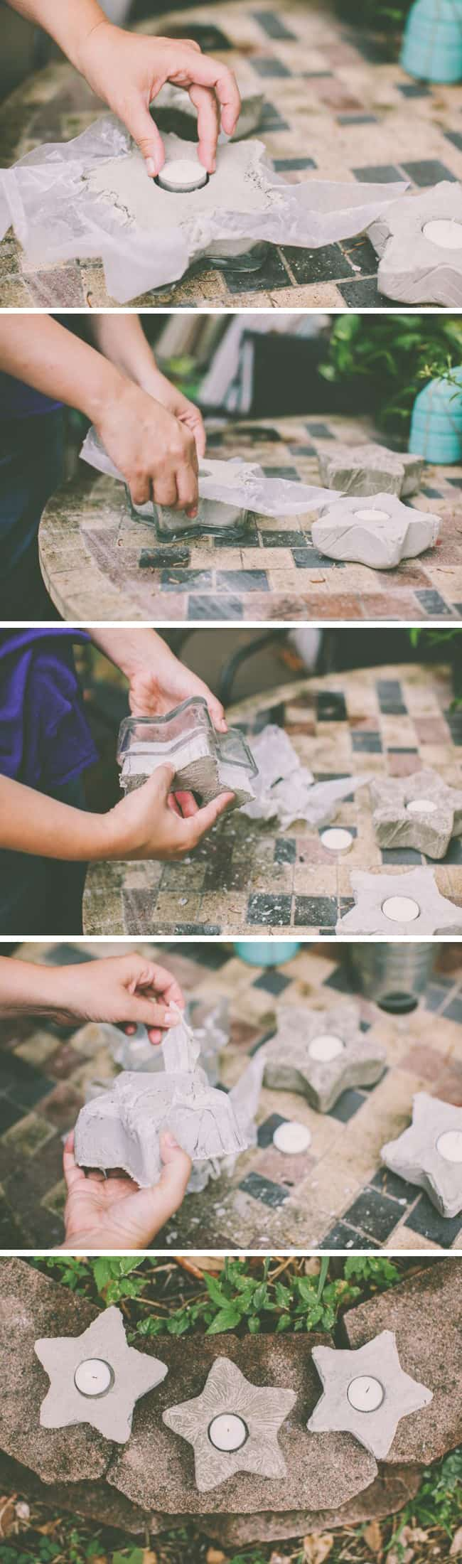 DIY Cement Votives | HelloGlow.co