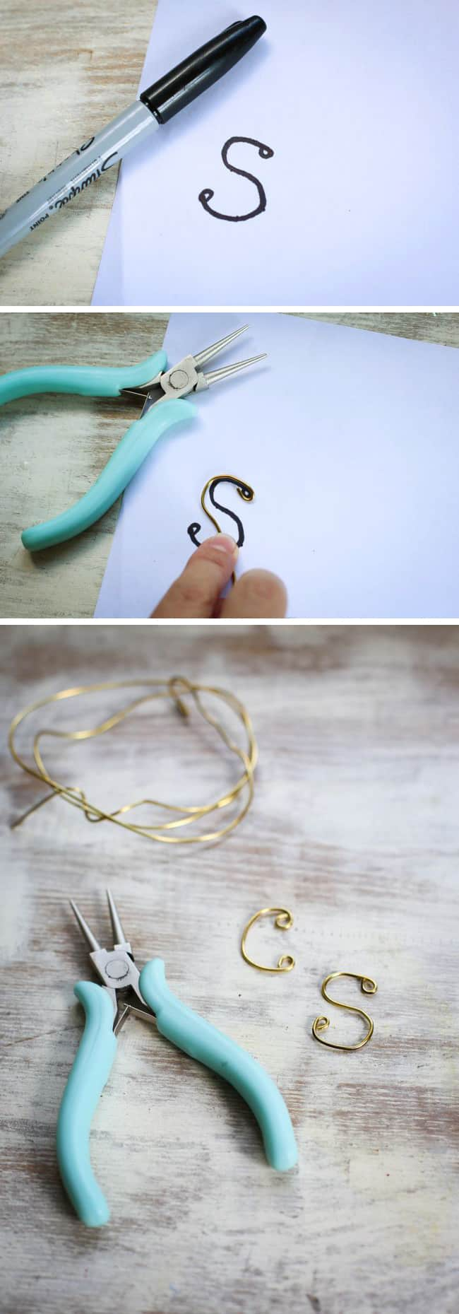 How to make a wire letter