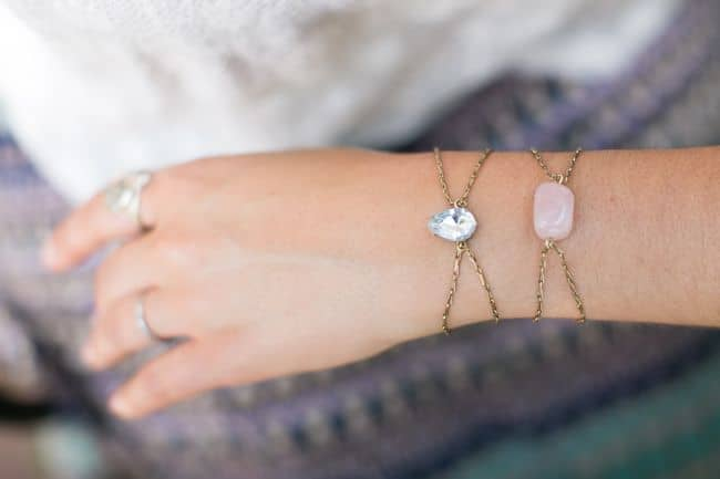 DIY Rhinestone Bracelets   Hello Glow