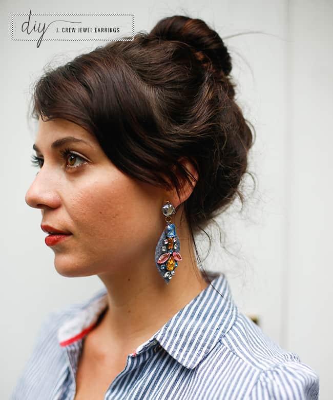 DIY Earrings from J. Crew | Hello Glow