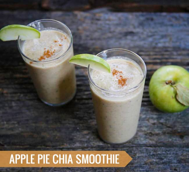 Apple Pie Chia Smoothie | 3 Healthy Fall Smoothies | HelloGlow.co