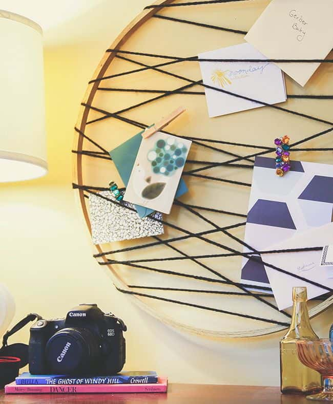 Embroidery Hoop Card Catcher | Hello Glow