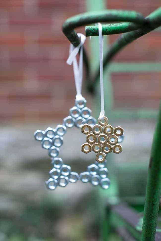 DIY Hardware Ornaments 3 Ways   HelloGlow.co