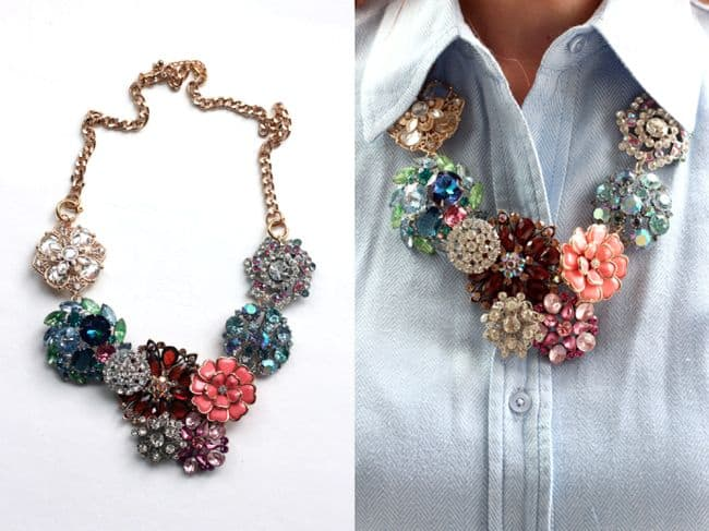 J. Crew Flower Lattice Necklace