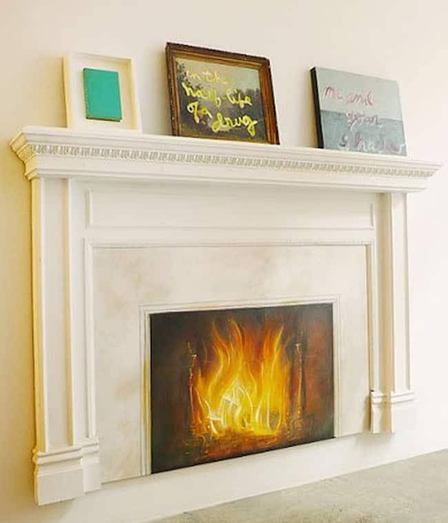 15 ideas for a non working fireplace hello glow - Chimeneas decorativas falsas ...