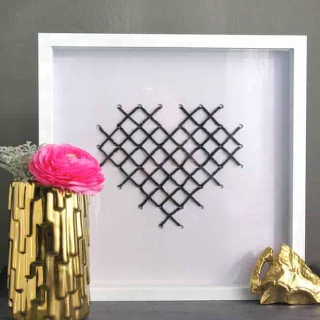 DIY Cross Stitch Heart Art | Hello Glow