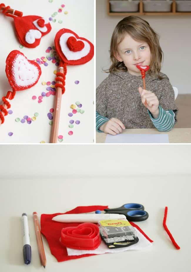 DIY Heart Pencil Topper | Hello Glow