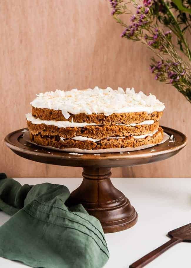 Vegan Gluten-Free Carrot Cake Recipe | HelloGlow.co