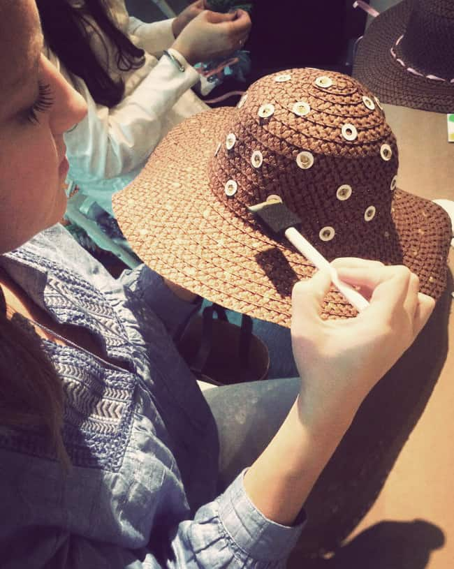 DIY Polka Dot Straw Hat | Hello Glow