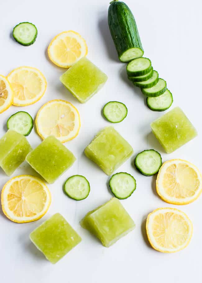 Cucumber Lemon Ice Cubes | 15 Ways to Harness Cucumber Benefits for Your Skin