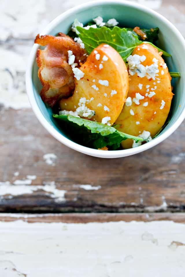 Fuji Apple and Baby Kale Kimchi Salad