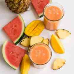 Hydrating Watermelon Smoothie with Coconut Water